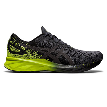 Asics Dynablast Mens Running Shoes (Black-Lime Zest)