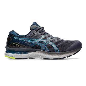 Asics Gel Nimbus 23 Mens Running Shoes (Carrier Grey/Digital Aqua)