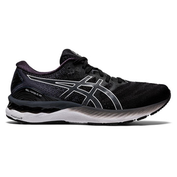 Asics Gel Nimbus 23 Wide Mens Running Shoes (Black/White)