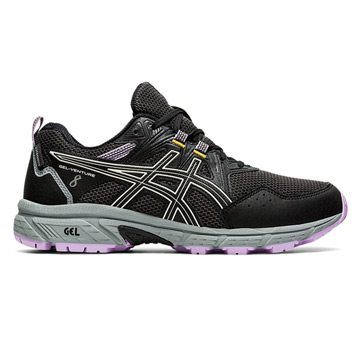 Asics Gel Venture 8 Waterproof Womens Running Shoes (Black-Ivory)