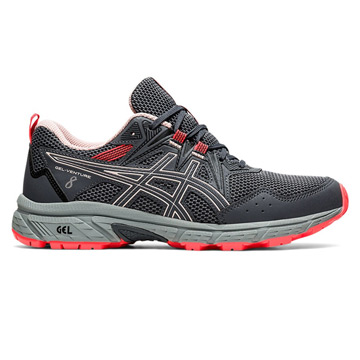 Asics Gel Venture 8 Womens Running Shoes (Carrier Grey-Ginger Peach)