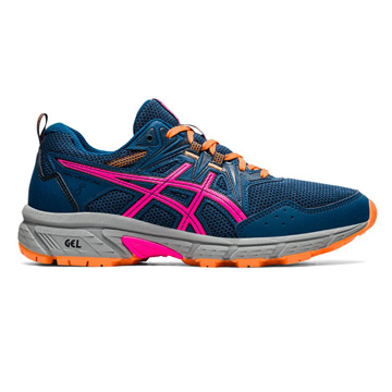Asics Gel Venture 8 Womens Running Shoes (Mako Blue/Pink Glo)
