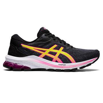 Asics GT-1000 10 Womens Running Shoes (Black/Hot Pink)