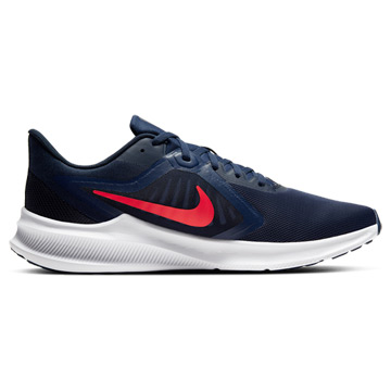 Nike Downshifter 10 Mens Running Shoes (Midnight Navy-Laser Crimson)