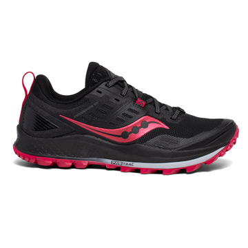 Saucony Peregrine 10 Womens Running Shoes (Black-Barberry)