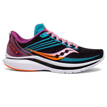 Saucony Kinvara 12 Womens Running Shoes (Future Black)