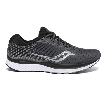 Saucony Guide 13 Mens Running Shoes (Black/ White)