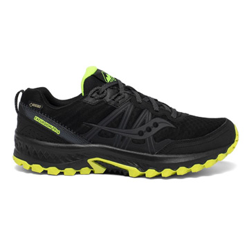 Saucony Excursion TR14 Gore-Tex Mens Trail Shoes (Black/ Citron)