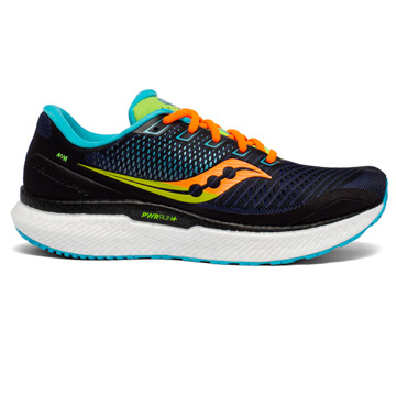 Saucony Triumph 18 Mens Running Shoes (Future Black)
