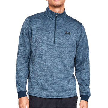 Under Armour Fleece 1/2 Zip Mens Top (Academy-Black)