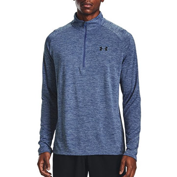 Under Armour Tech 2.0 1/2 Zip Mens Top (Mineral Blue/Black)