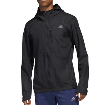Adidas Own the Run Mens Hooded Wind Jacket (Black)