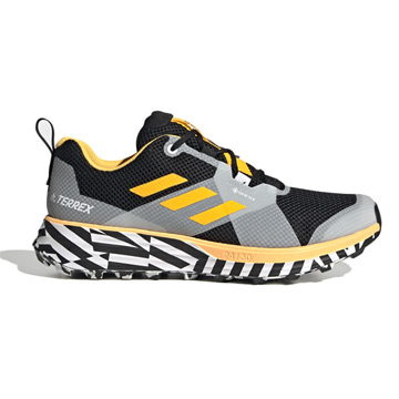 Adidas Terrex Two GTX Men's Trail Running Shoes (Solar Gold/Core Black/White)