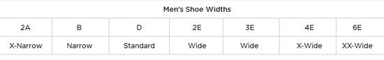 New Balance Mens Shoe Size Guide